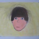 Zelfportret, getekend met kleurconté